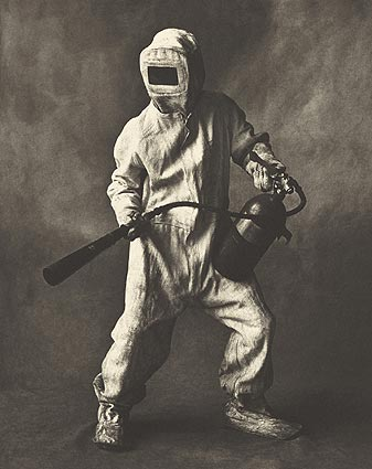 Irving Penn, Steel Mill Firefighter (1951)