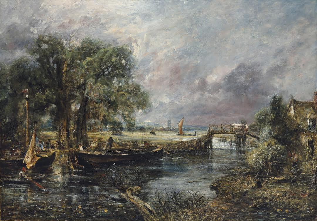 John Constable, Sketch for View of the Stout near Dedham (12-16m GBP)